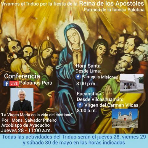 Los palotinos en el Perú se preparan a celebrar el Triduo a su patrona