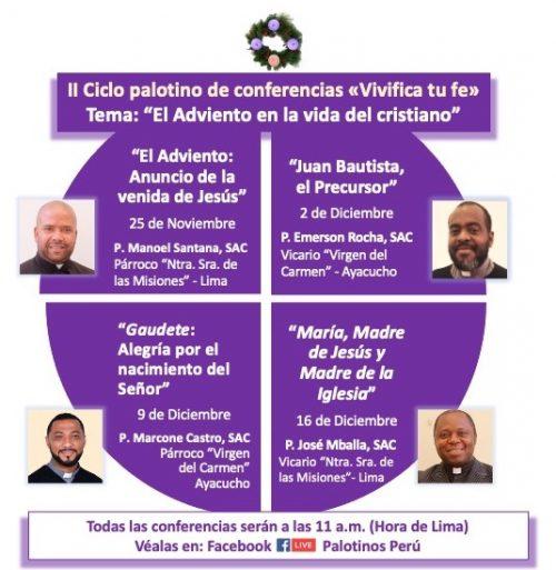 Padres palotinos organizan ciclo de conferencias por el Adviento